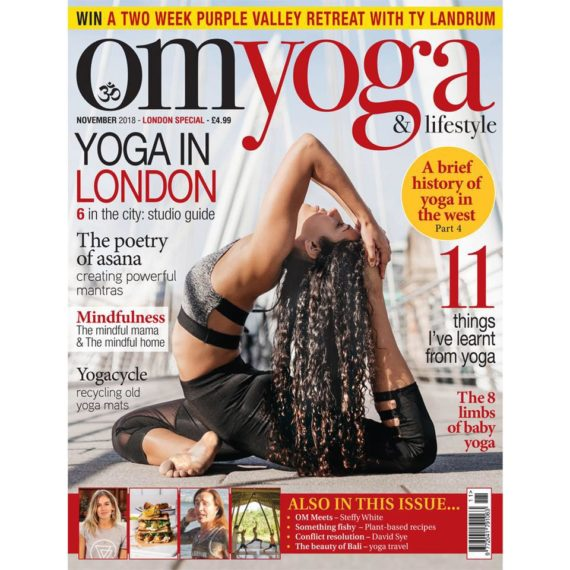 Om Yoga Magazine - Cover Photography