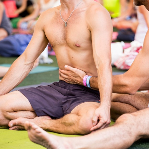 Ashtanga Class with David Swenson at BYC